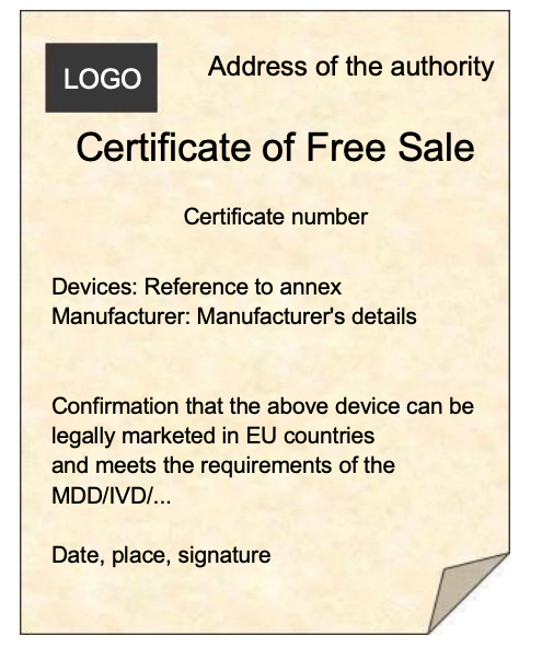 Free Sales Certificates: A precondition for medical devices?
